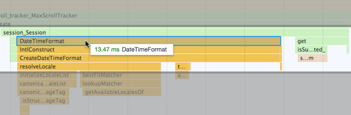 Creating an Intl.DateTimeFormat instance took 13.47ms!
